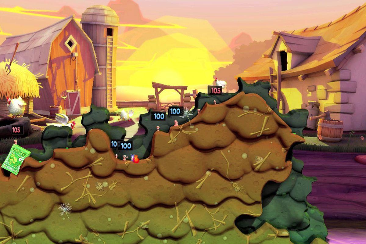 Worms Revolution farm background