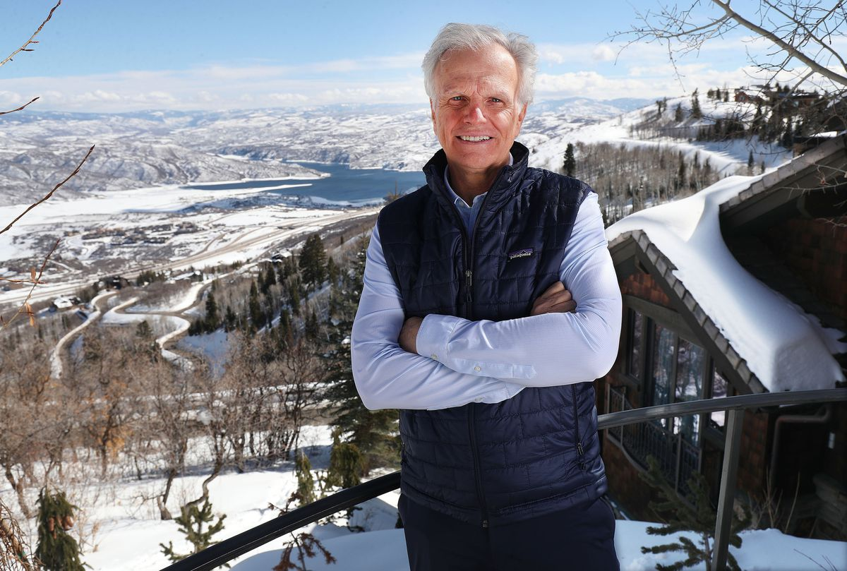 Utah native David Neeleman stands at his home in Deer Valley on Tuesday, Feb. 23, 2021.