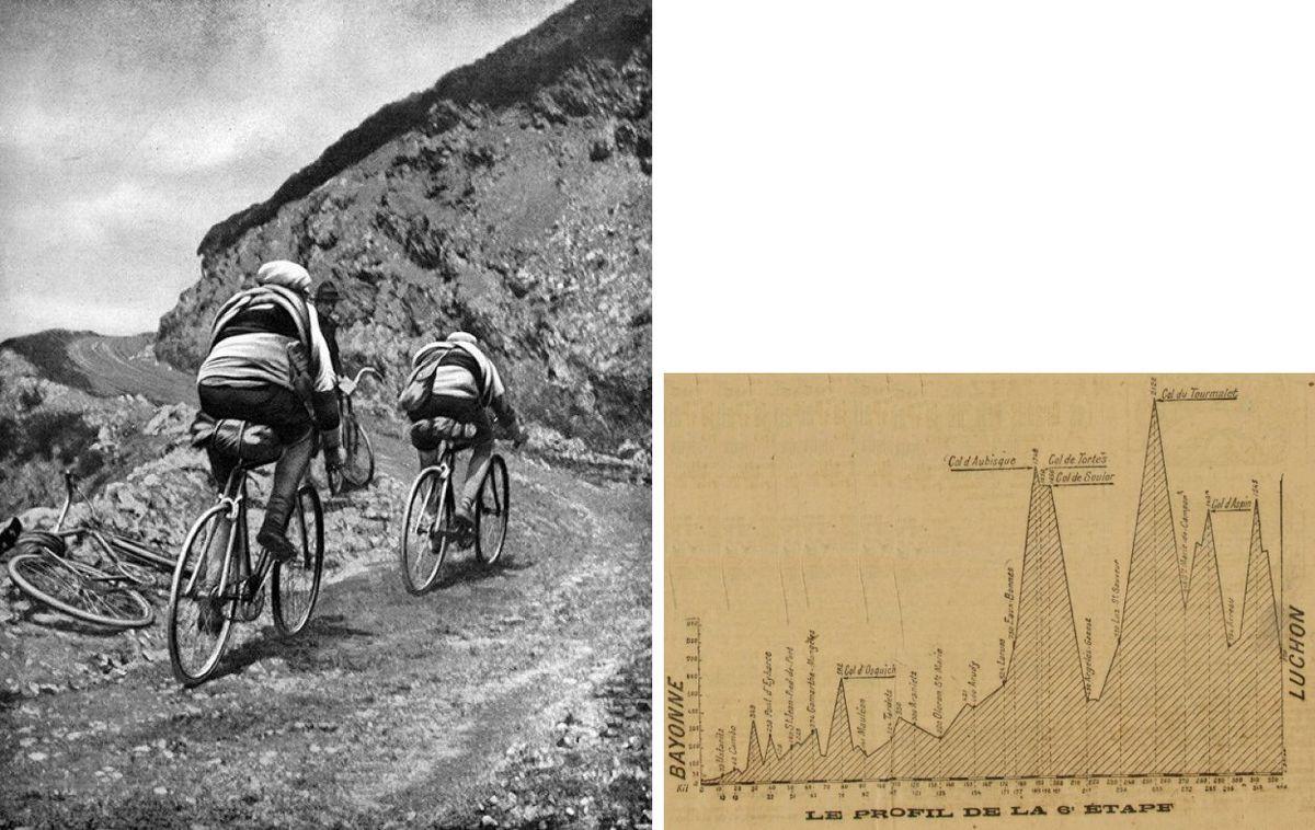 Honoré Barthélémy and Firmin Lambot climb the Tourmalet