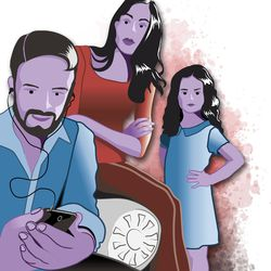 Husband zoned out because of device