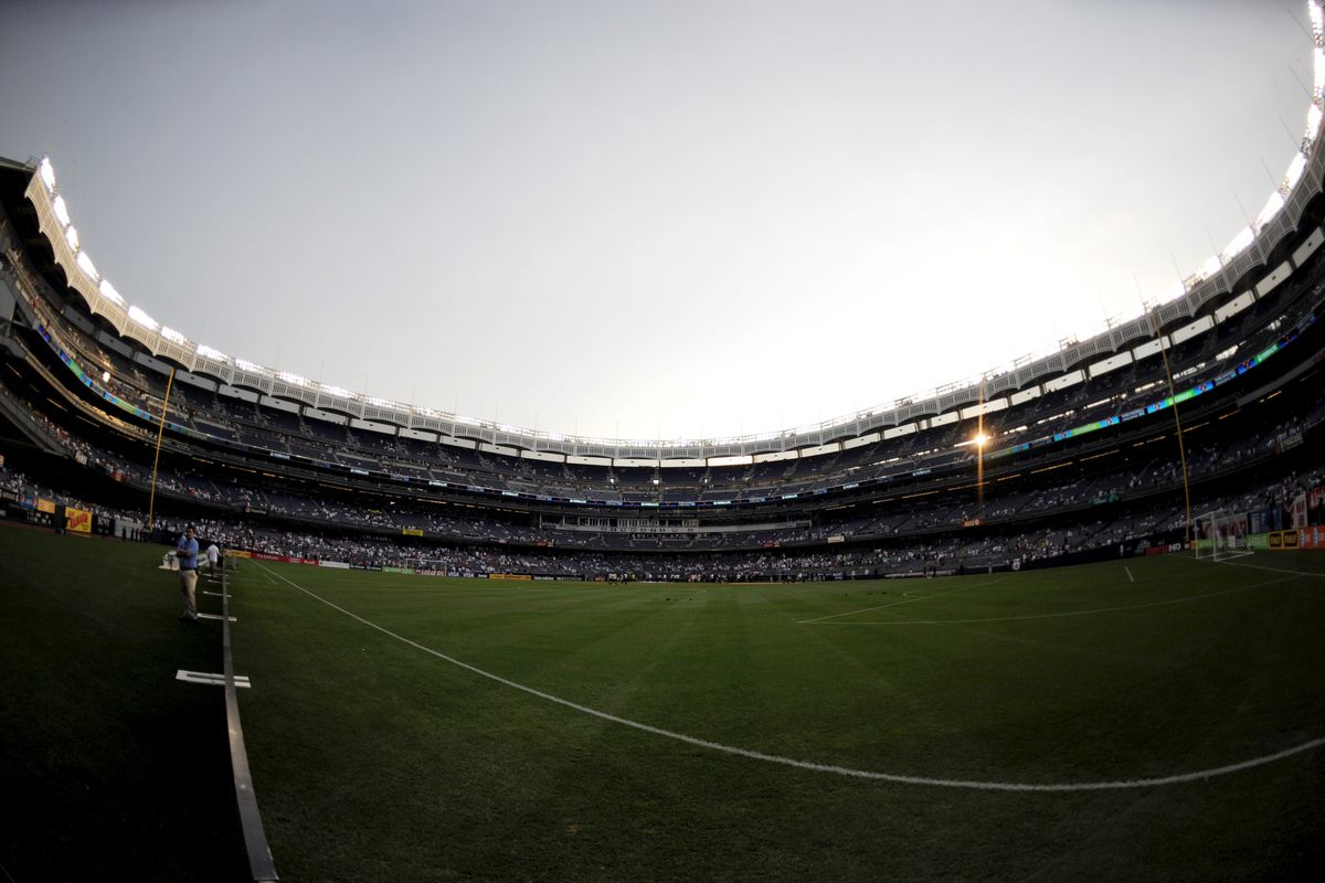 Yankee Stadium will host two soccer games this summer.