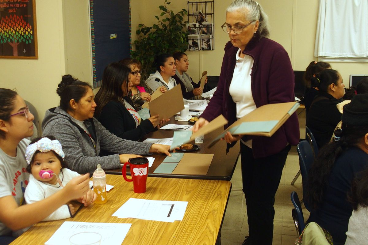 A recent parent academy for Spanish-speaking mothers at Egypt Elementary School.