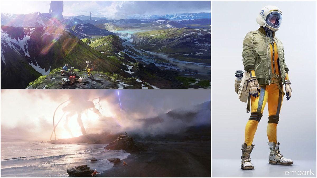 Concept art for Embark Studios' co-op action game