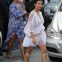 Kris Jenner and Kourtney Kardashian in St. Barts