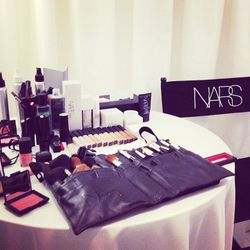 After blowouts, guests were treated to a gratis NARS makeup application.
