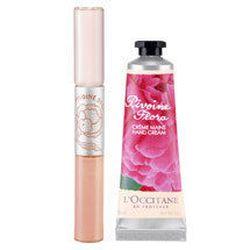 """<a href=""""http://usa.loccitane.com/FO/Peony-Hugs-Kisses,p934286.htm"""">L'Occitane Peony Hugs and Kisses lip gloss and hand salve set</a>, $25.00, loccitane.com"""
