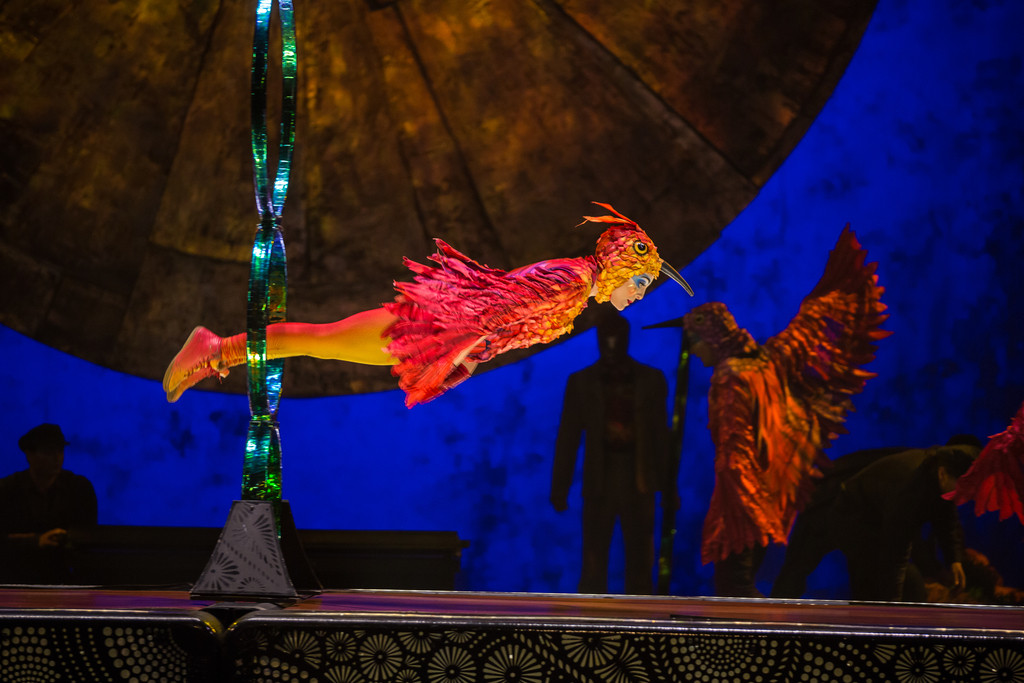 """The hummingbird is one of the many images conjured Cirque du Soleil's Mexico-themed spectacle, """"Luzia.""""   MATT BEARD"""