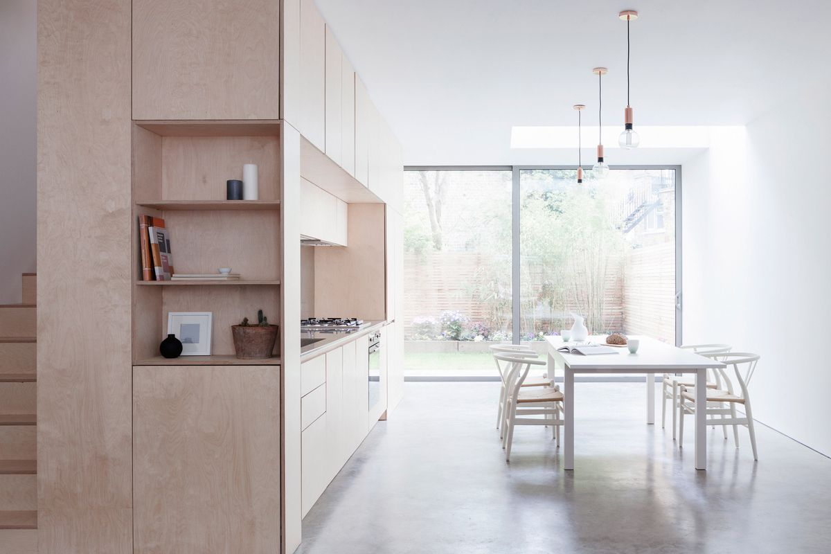 Simple Kitchen Extension london maisonette gets bright and airy extension - curbed