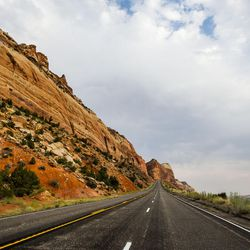 Walls of red rock line the road to Blanding on Thursday, Aug. 20, 2015. The Bears Ears area is the center of a proposed 1.9 million acre region to be conserved and possible site of a national monument.