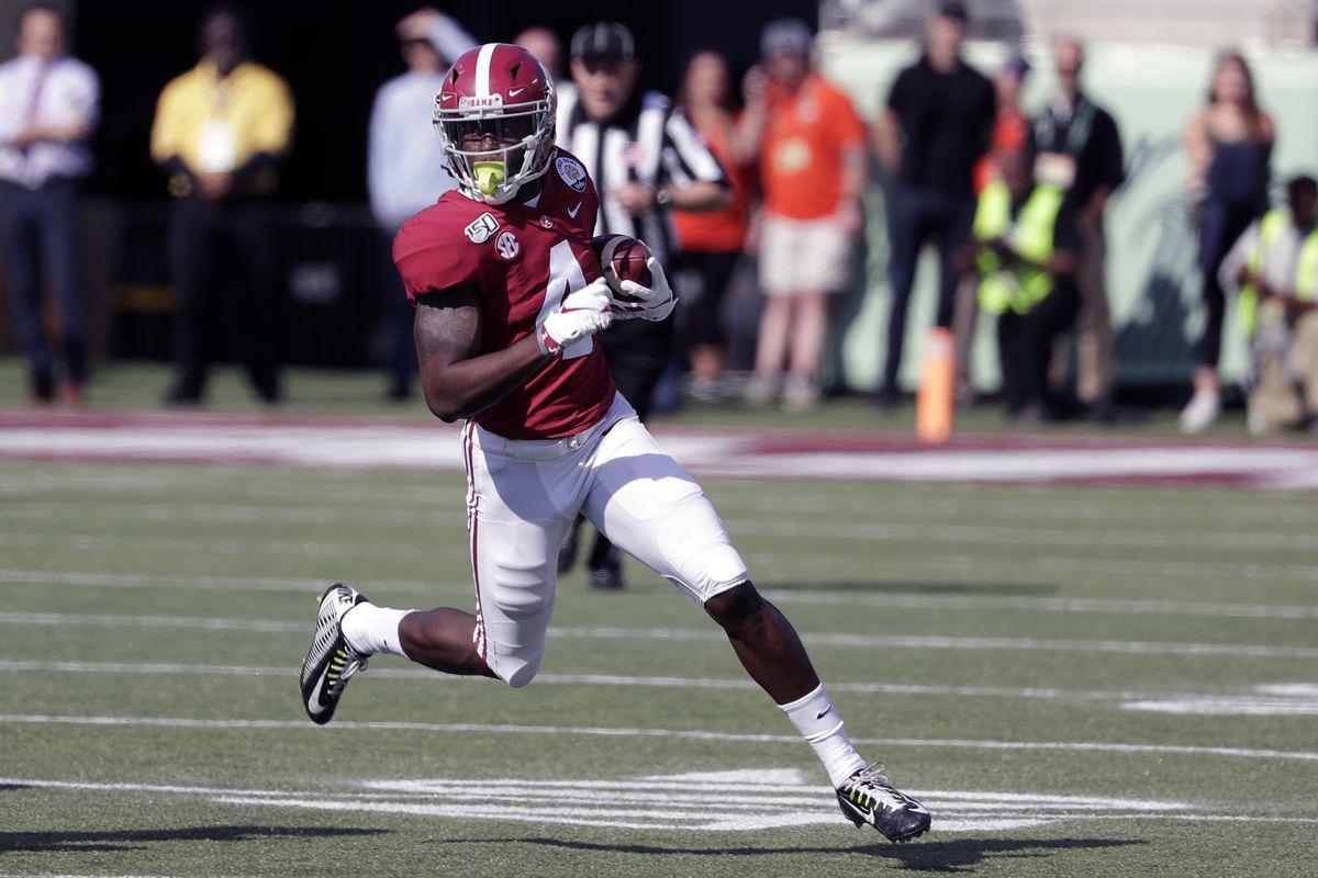 Alabama's Jerry Jeudy already looks like an NFL receiver.