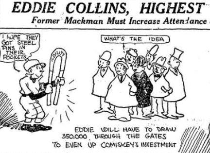 Eddie Collins cartoon