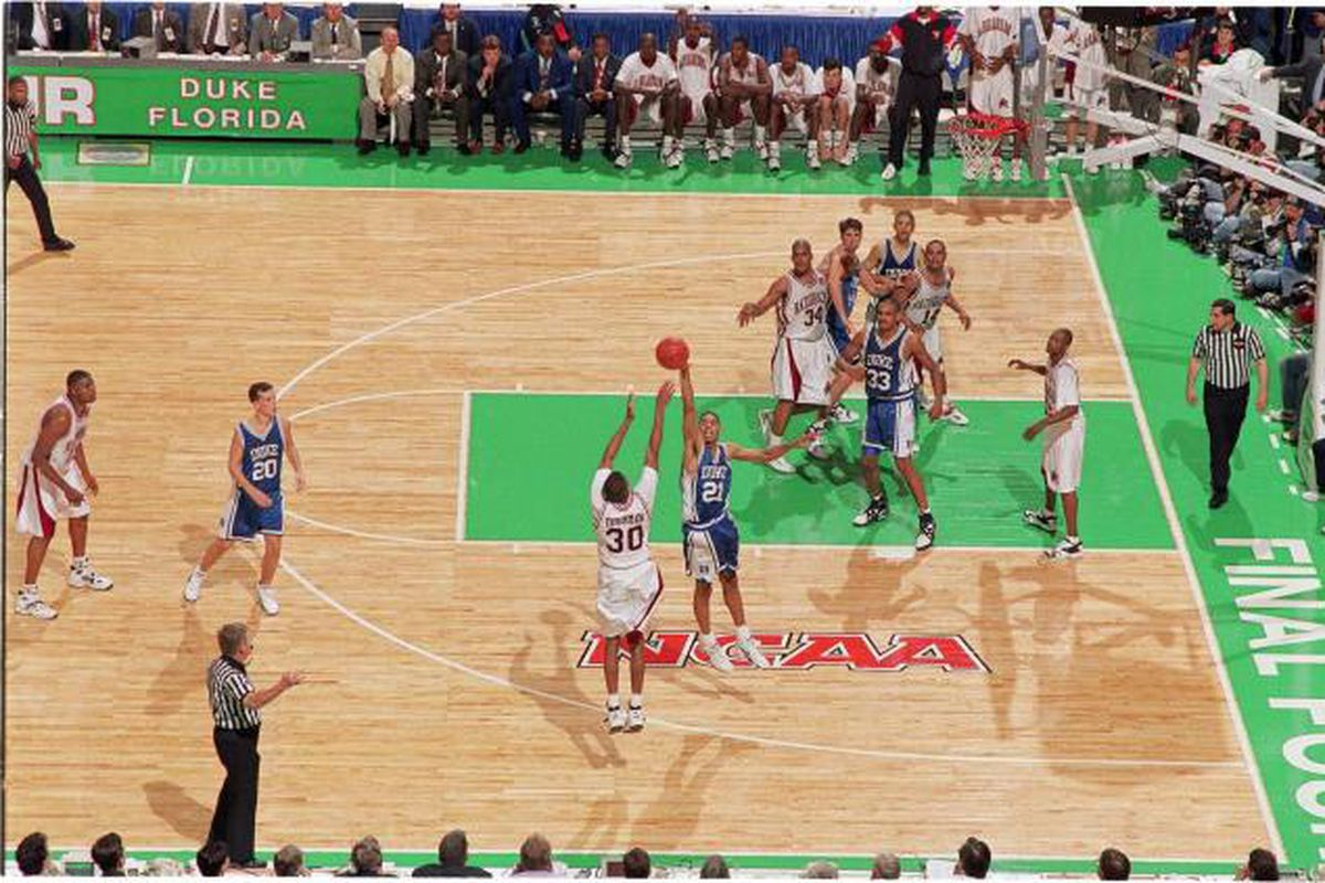 Scotty Thurman's moon shot over Antonio Lang with 1 second left on the shot clock.
