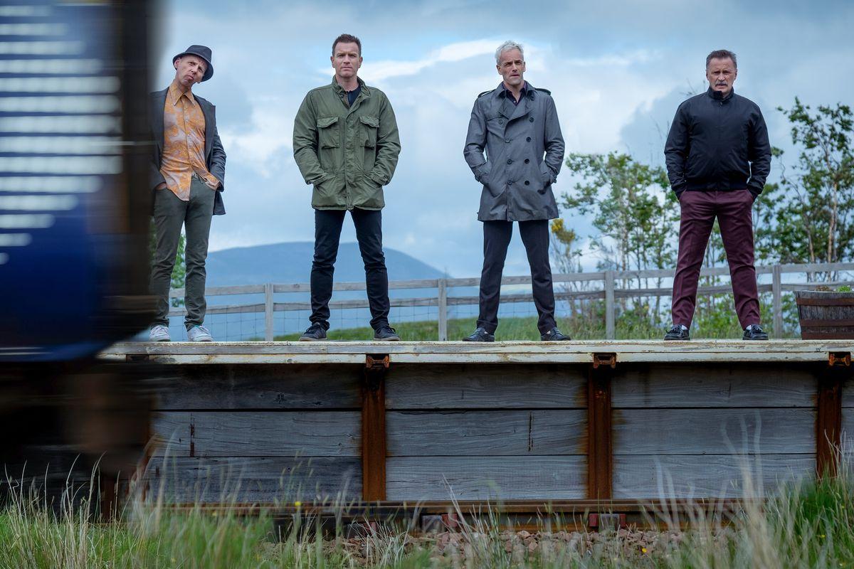 Ewen Bremmer, Ewan McGregor, Jonny Lee Miller, and Robert Carlyle in T2 Trainspotting
