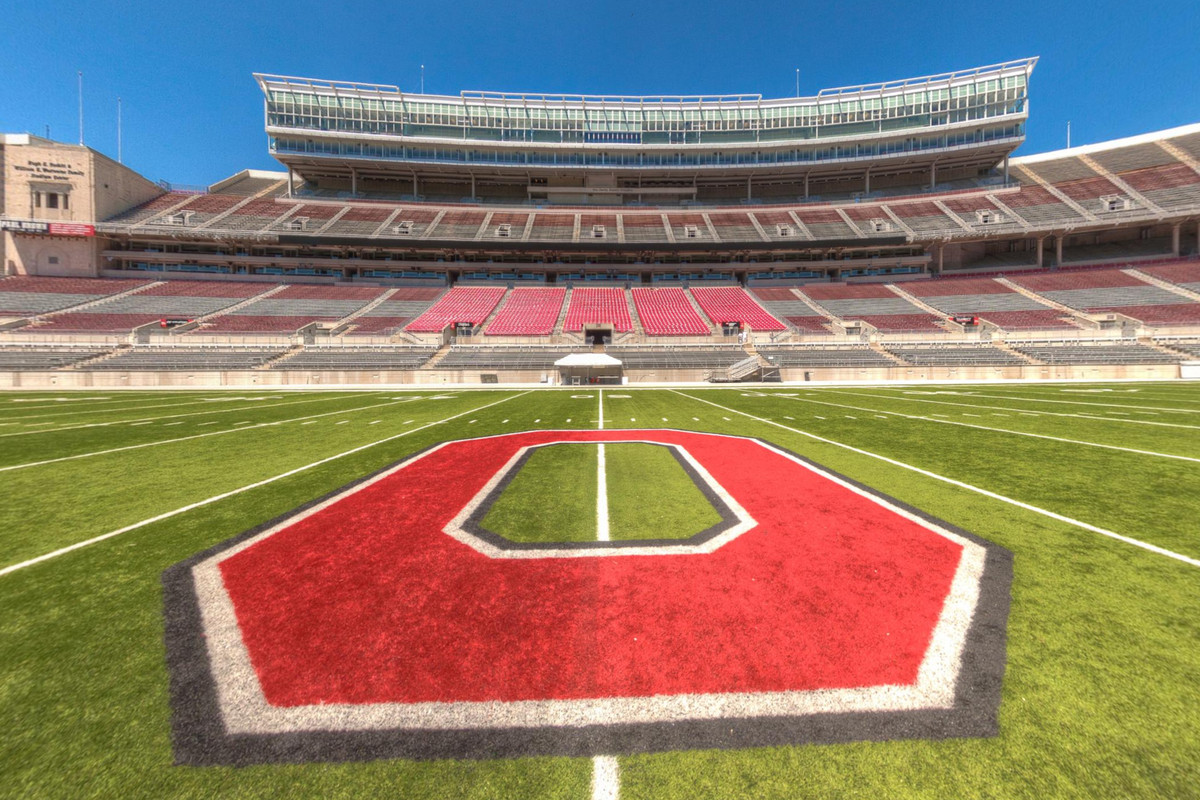 go to the 50 yard line at the shoe w this ohio stadium