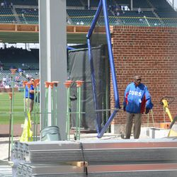 12:33 p.m. More batting practice equipment being brought in -