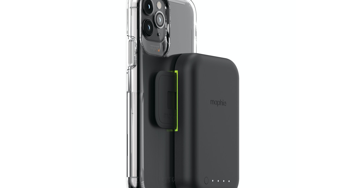 Mophie's new wirelessly charging battery pack clips onto the back of your phone