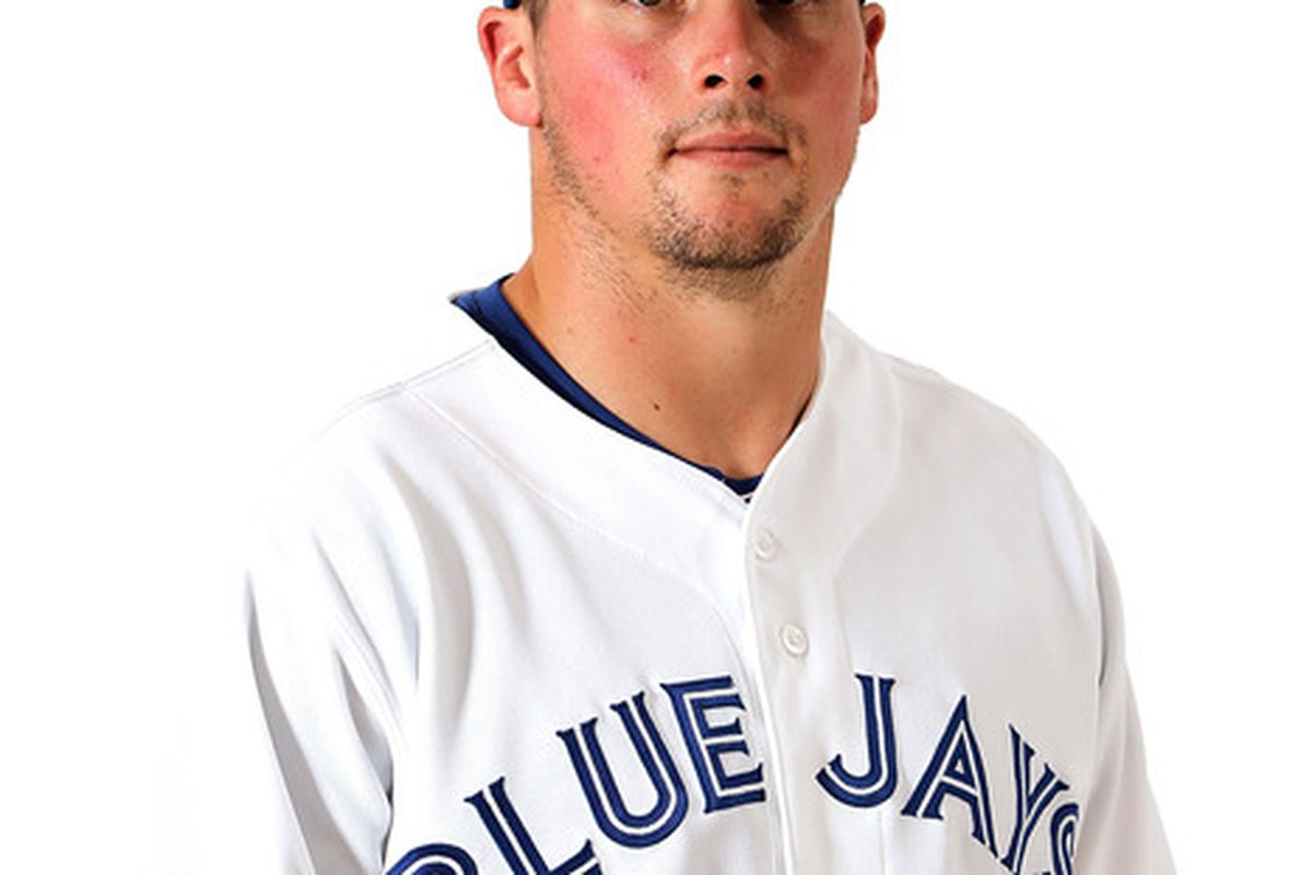 DUNEDIN, FL - MARCH 02:  Travis Snider #45 of the Toronto Blue Jays poses for a portrait at Dunedin Stadium on March 2, 2012 in Dunedin, Florida.  (Photo by Jonathan Ferrey/Getty Images)