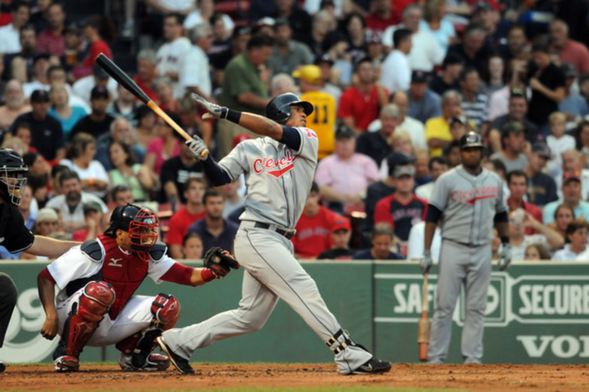 Valbuena! Luis Valbuena hit the winning home run in the top of the ninth. (Photo by Darren McCollester/Getty Images)