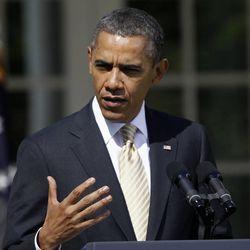 President Barack Obama speaks in the Rose Garden of the White House in Washington, Thursday, March 29, 2012.