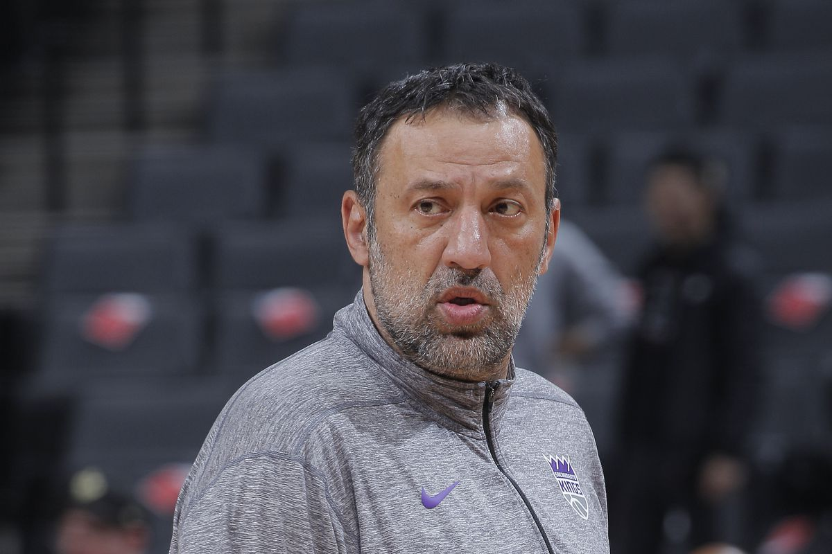 General Manager Vlade Divac of the Sacramento Kings looks on prior to the game against the Toronto Raptors on March 8, 2020 at Golden 1 Center in Sacramento, California.