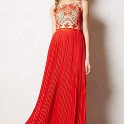 "<a href=""https://www.stylelend.com/#!item/breathtaking-romantic-maxi-dress"">Rina Dhaka for Anthropologie</a>, Size 4, $55."
