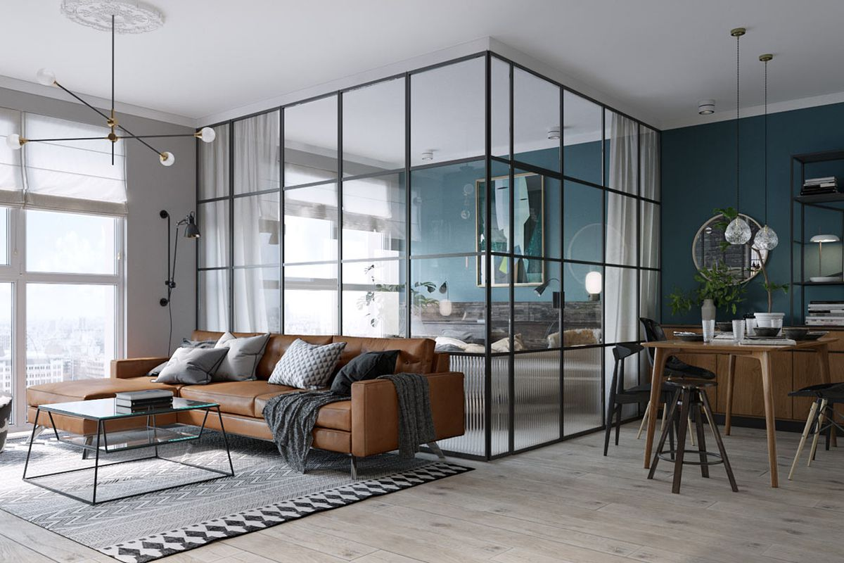 Impressive 500 square foot apartment has everything you for De square design and interiors