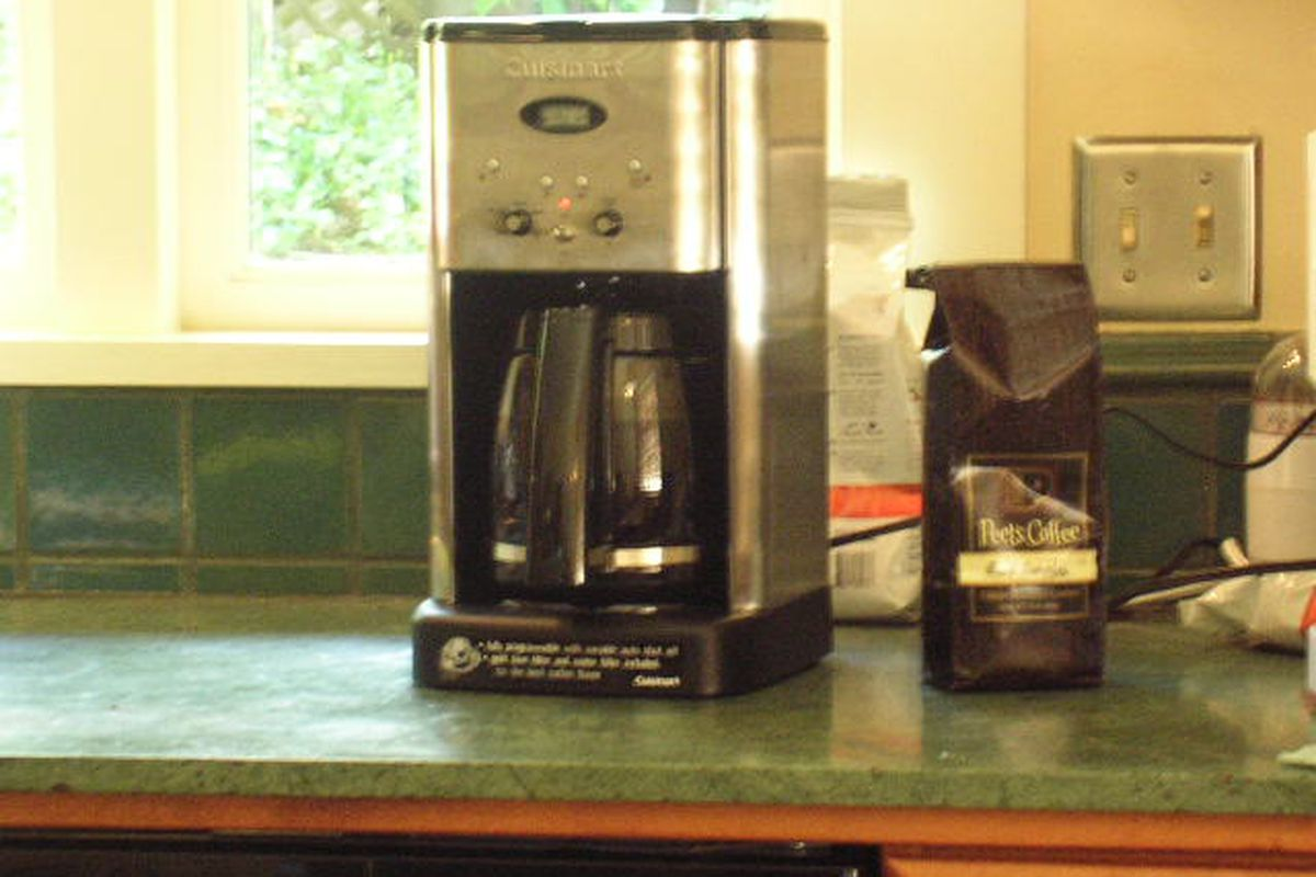 Pictured: a coffee pot.