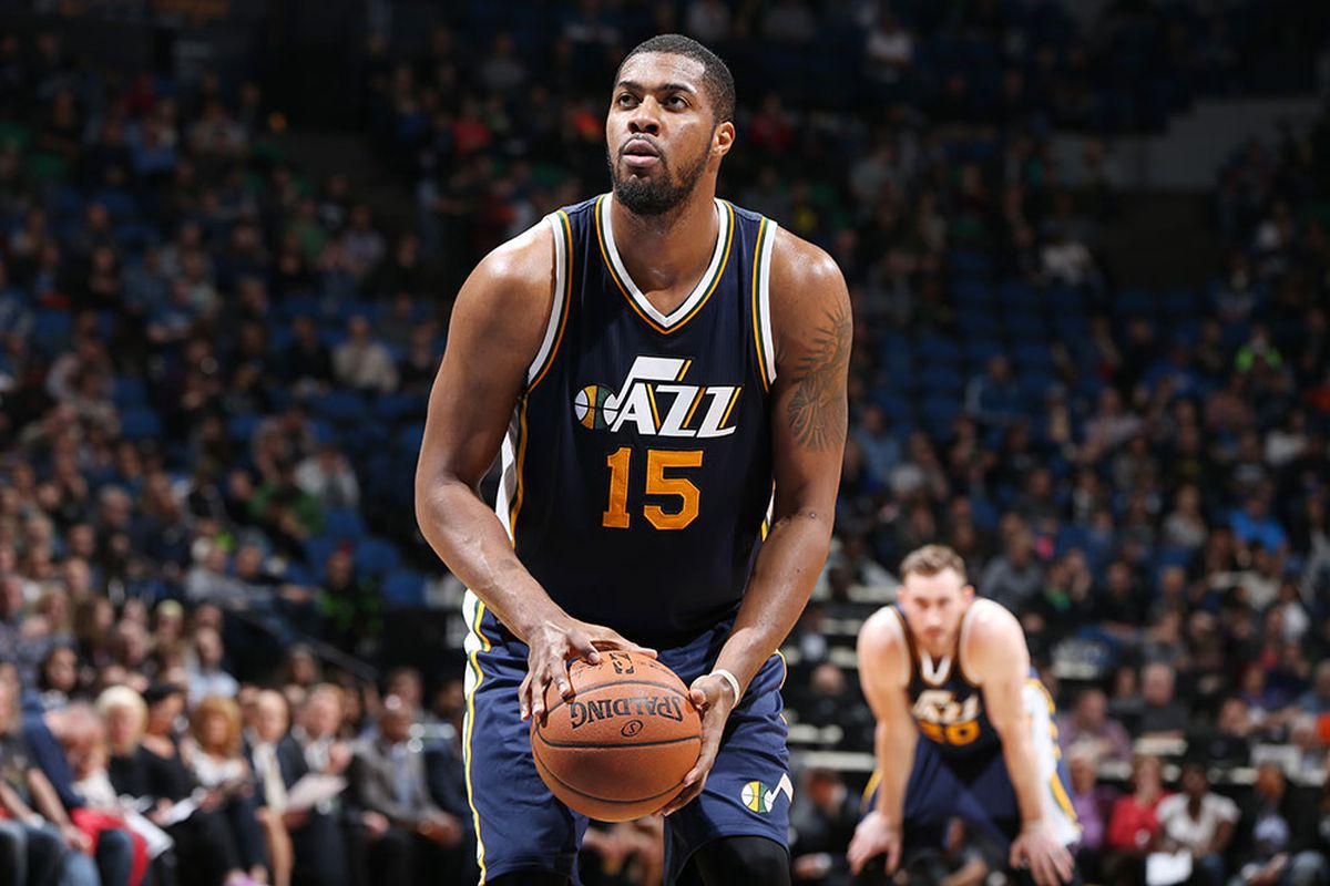 new styles ed91c 06bb5 Derrick Favors wants to stay in Utah - SLC Dunk