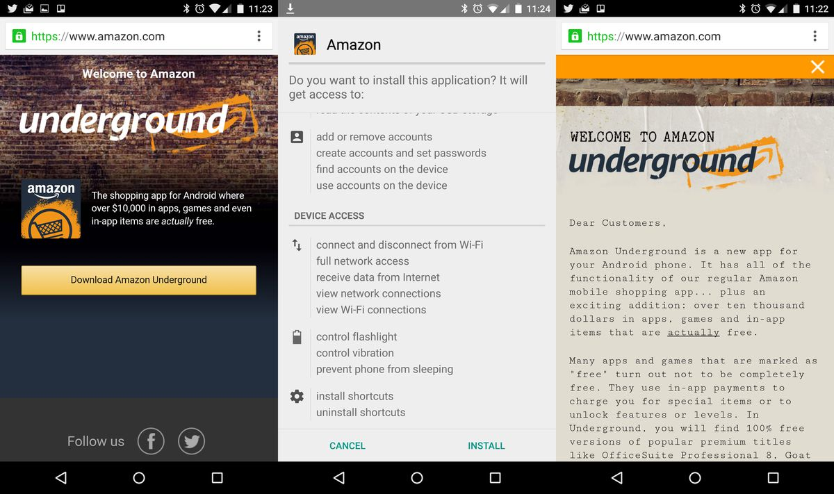 what is amazon underground apk