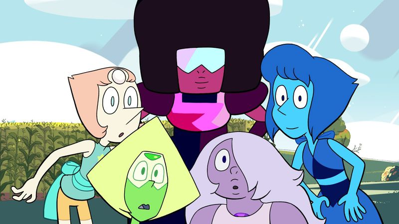 The Crystal Gems in Steven Universe