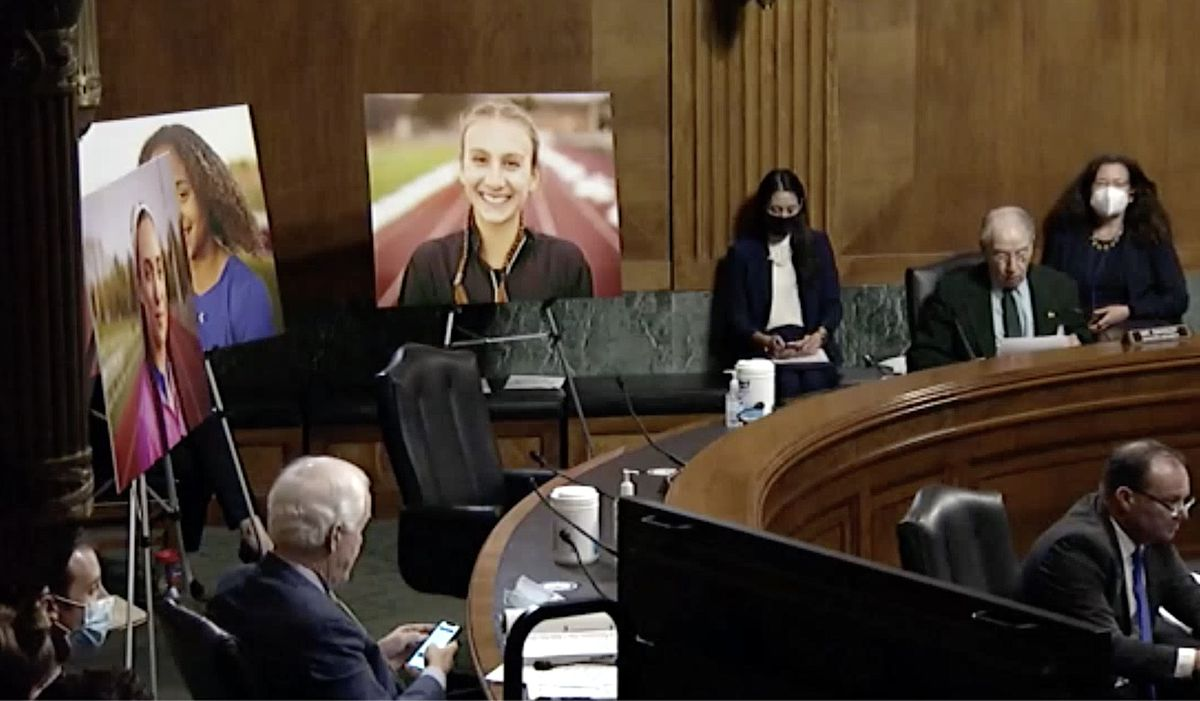 Sen. Chuck Grassley used photos of three cisgender girls from Connecticut to attack trans student-athletes and the Equality Act.