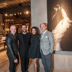 Darin Griese, owner of Coup d'Etat with the artist, Claudia Ross and Stephen Brady