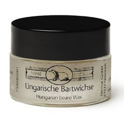 """Made famous by Salvadore Dali and his distinctive moustache, this wax is lightly scented with vanilla tobacco. <strong>Gold-Dach's</strong> Bartwichse Hungarian Beard & Moustache Wax, <a href=""""http://www.fscbarber.com/shave/moustache-beard-products/gold-d"""