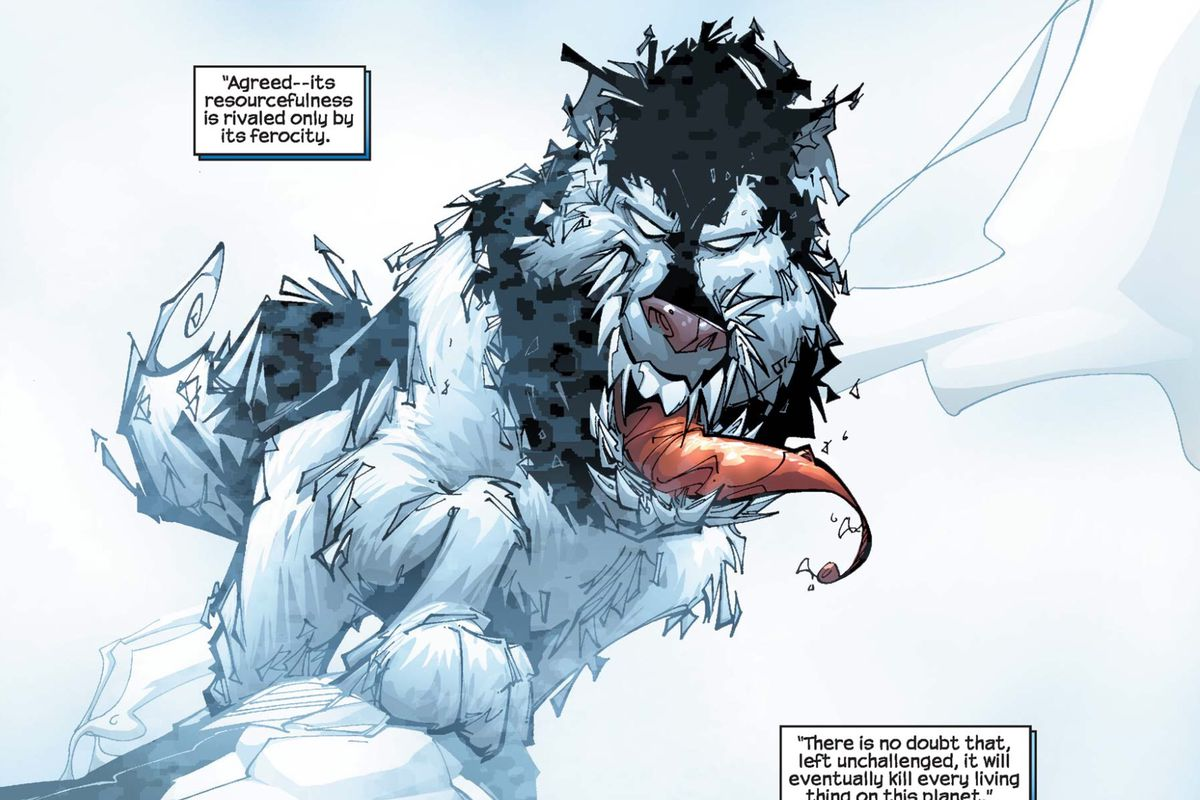 A dog bonded with the Venom Symbiote in Venom #5, Marvel Comics (2003).