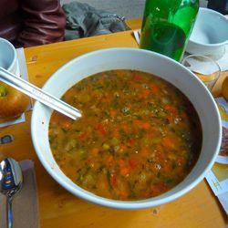 The soup.