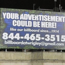 10:08 p.m. This billboard, on Sheffield, is available -
