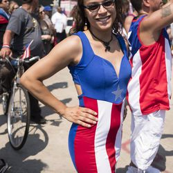 Cassandra Figueroa has sung the Puerto Rican anthem for the last 17 years. | Rick Majewski/For the Sun-Times.