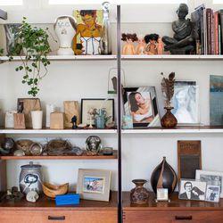 Shelves in the living room