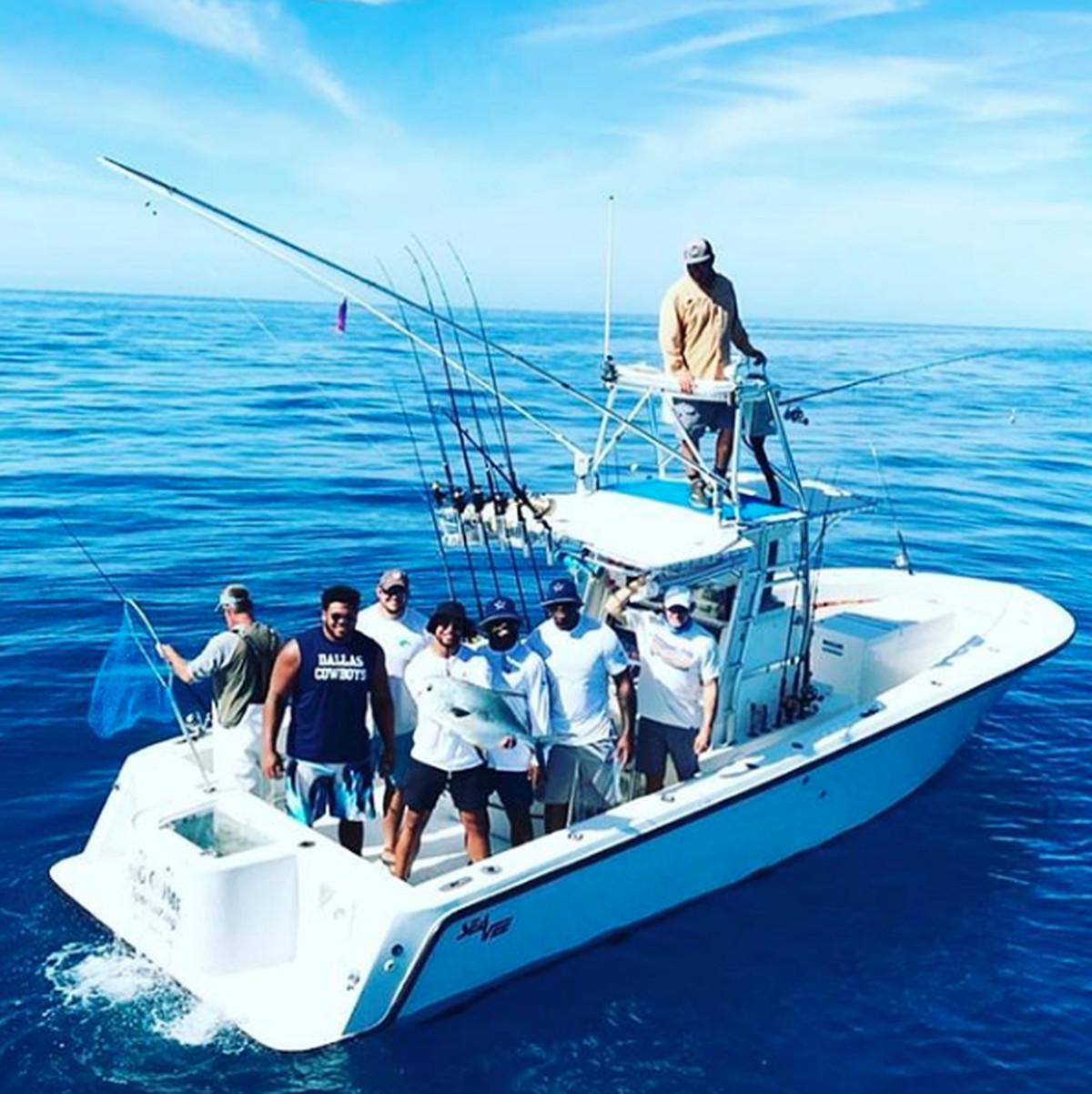 Some dallas cowboys leadership council members took a fishing trips dak prescott on instagram malvernweather Gallery
