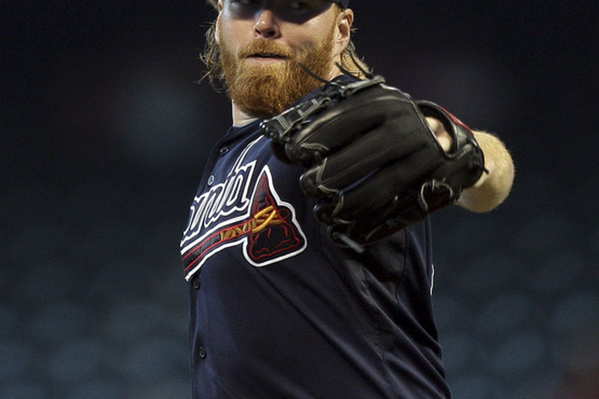 HOUSTON - JUNE 12:  Pitcher Tommy Hanson #48 of the Atlanta Braves throws against the Houston Astros at Minute Maid Park on June 12, 2011 in Houston, Texas.  (Photo by Bob Levey/Getty Images)