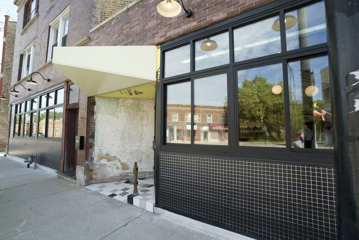 The outside of Wherewithall restaurant in Avondale
