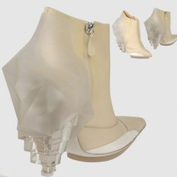 "How awesome is the cubist/iceburg heel on these Balenciagas? Available at <a href=""http://www1.yoox.com/item/YOOX/BALENCIAGA/dept/women/tskay/3FD17CD7/rr/1/cod10/44301454EJ/sts/sr_women80"" rel=""nofollow"">YOOX</a>"
