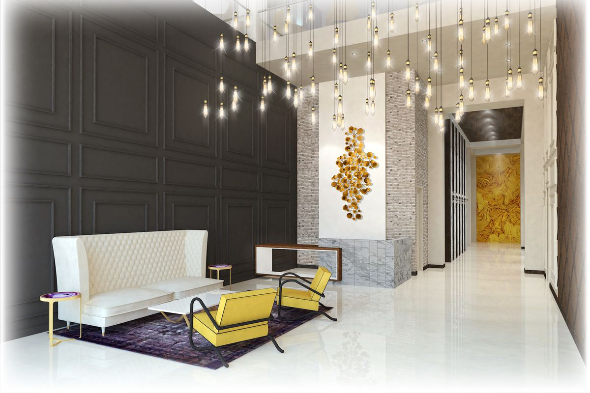 Rendering Of The Lobby At Park Line West Palm Beach Courtesy Stantec