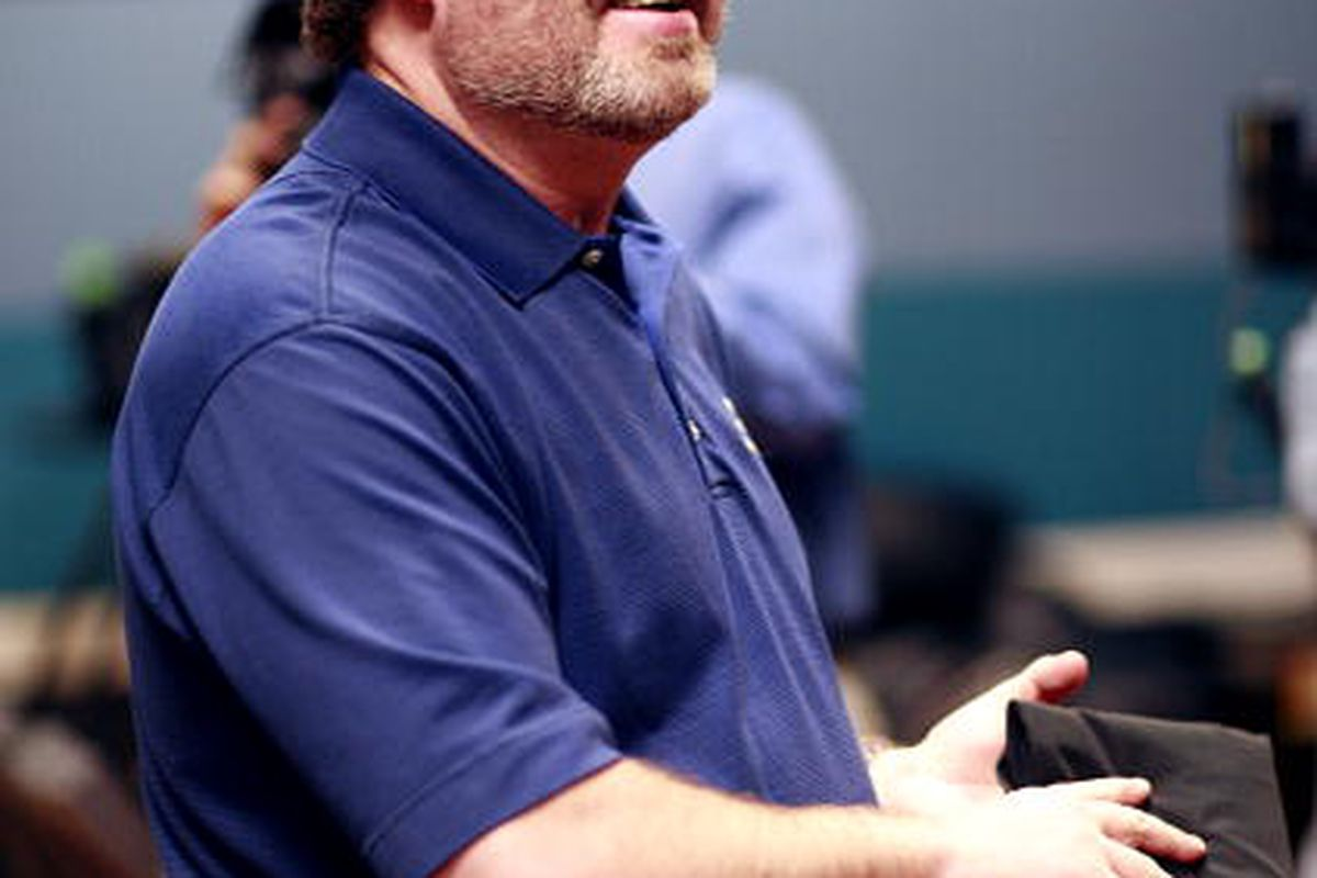 Texas Motor Speedway track president and promoter <em>extraordinaire</em> Eddie Gossage, who was named to the IZOD IndyCar Series ICONIC Advisory Panel today (Photo by Tom Pennington/Getty Images for Texas Motor Speedway)
