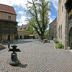 The courtyard of the Augustinian Monastery that Martin Luther joined in 1505.