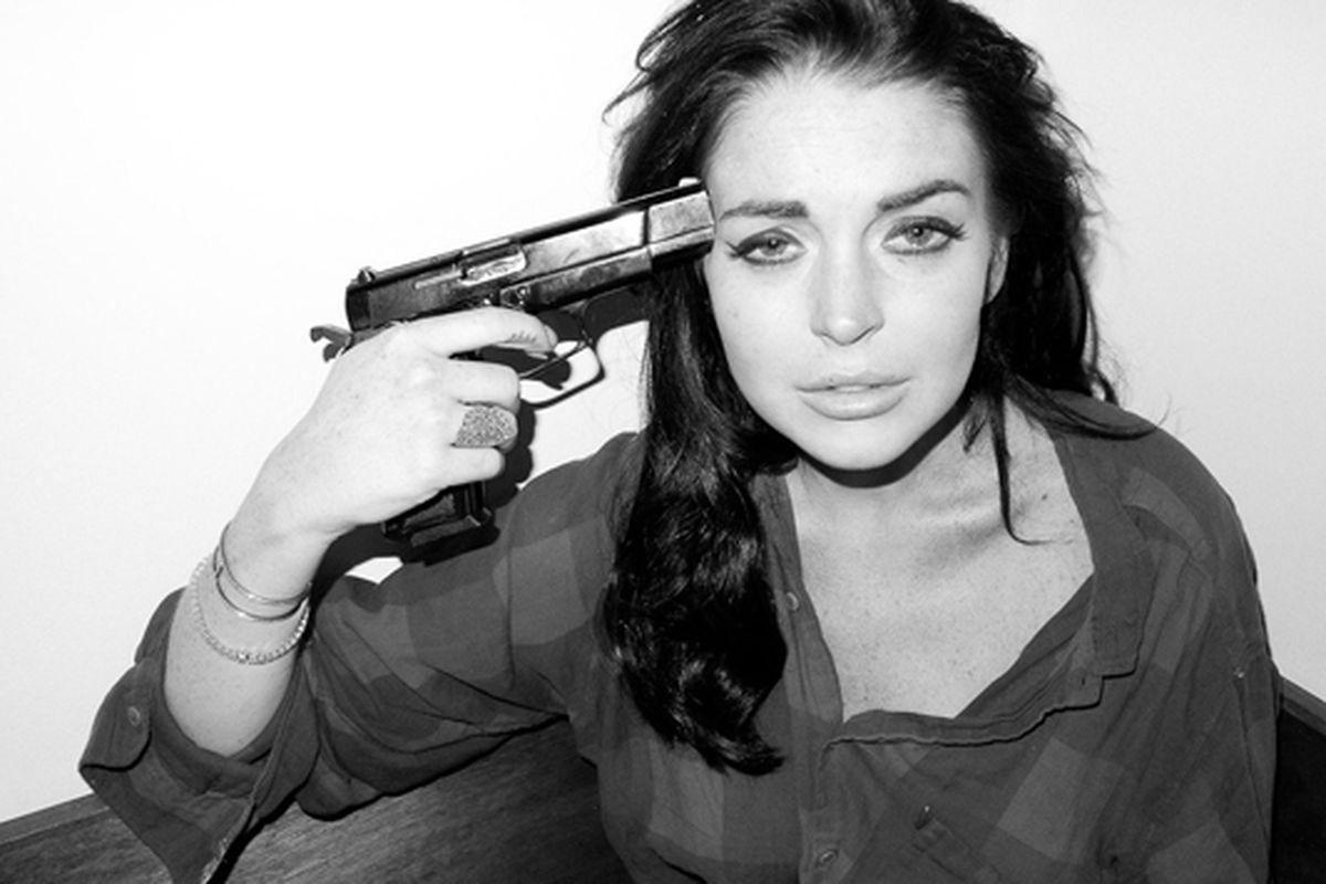 "Lindsay Lohan for Terry Richardson, via <a href=""http://www.terrysdiary.com/"">Terry's Diary</a>"
