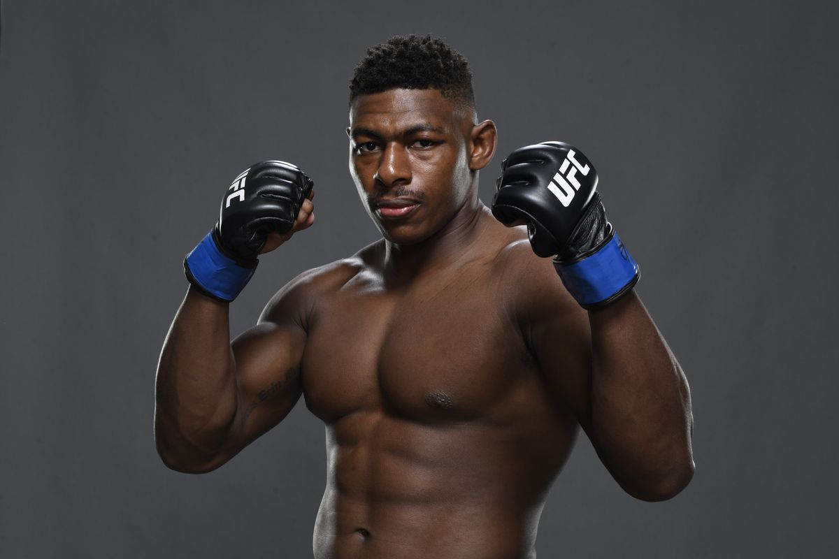 Joaquin Buckley poses for a portrait backstage during the UFC Fight Night event inside Flash Forum on UFC Fight Island on October 11, 2020 in Abu Dhabi, United Arab Emirates.