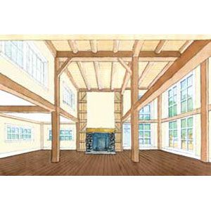 """<p>A rendering of the finished """"living hall"""" as it will look in February.</p>"""