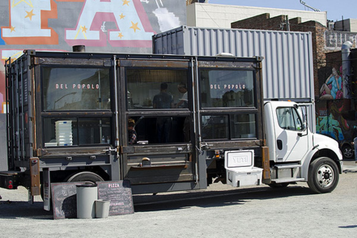 The Del Popolo truck, ready for action.