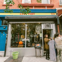 """<b>↑</b> <b><a href=""""http://coolponycrownheights.com/"""">Cool Pony</a></b> (733 Franklin Avenue) isn't just a store—it's a hangout. Vintage items run the gamut from band tees to <b>Chanel</b> dresses. There are also records on hand, and Cool Pony often host"""